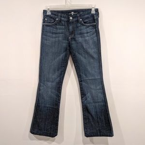 7 For All Mankind Dark Wash A Pocket Flare Jeans